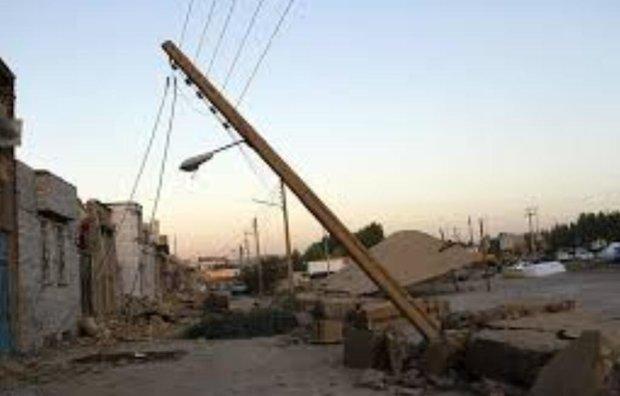 برق 20 روستای زلزله زده قطع است، برطرف مشکل تا صبح فردا