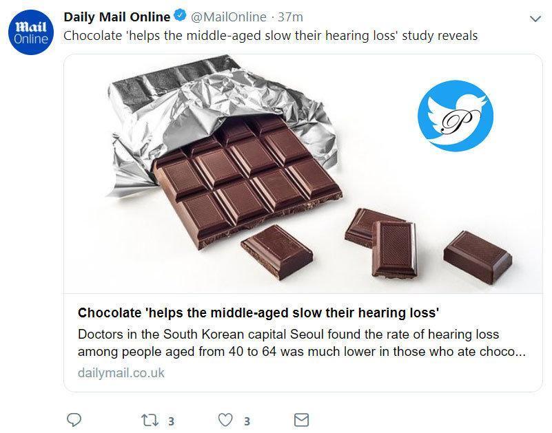 شکلات خوران کم تر ناشنوا می شوند