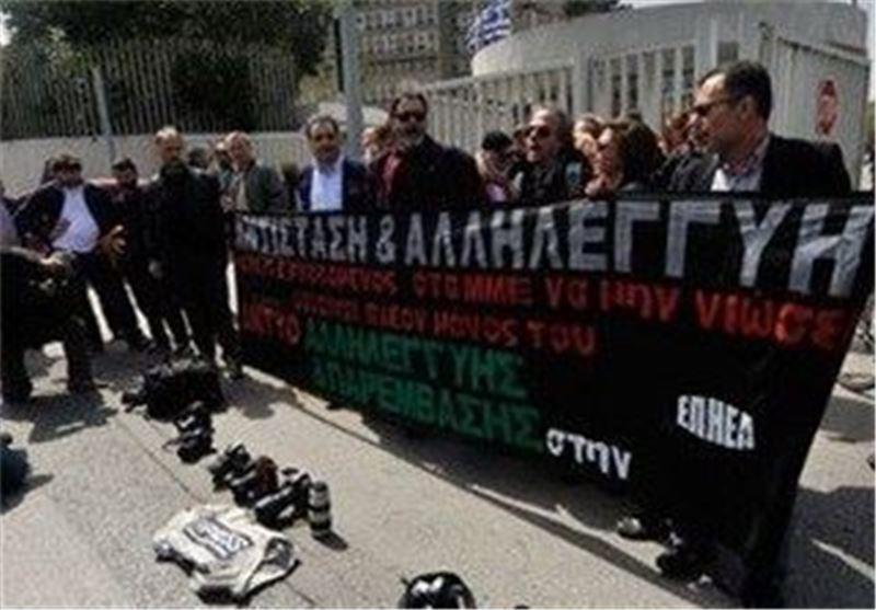 اعتصاب رسانه های یونان همزمان با سفر اولاند به این کشور