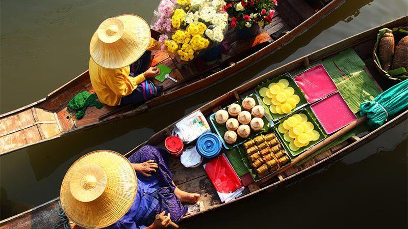 راهنمای خرید از بازارهای روی آب در بانکوک