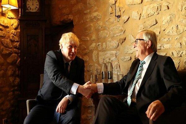 جانسون و یونکر دیدار کردند، لندن: کمکی به برگزیتِ با توافق نشد