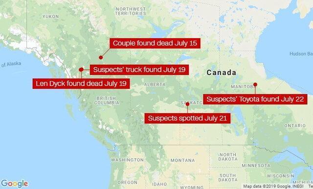 جست وجوی خانه به خانه دو نوجوان مظنون به قتل در بزرگراه کانادا
