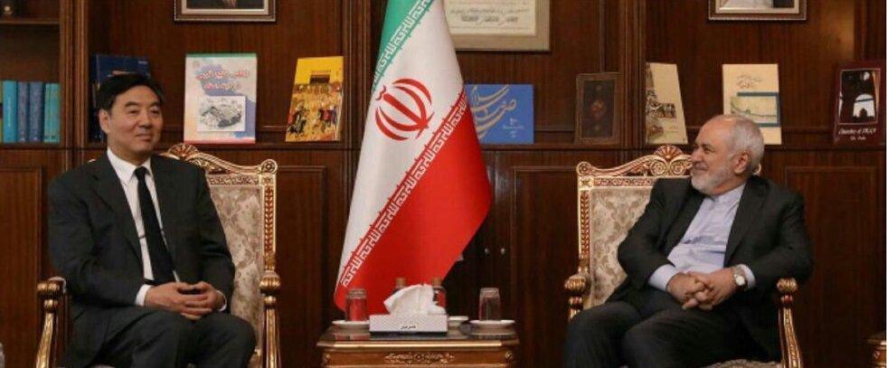 فرستاده ویژه چین در امور خاورمیانه با ظریف دیدار کرد