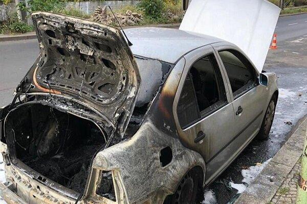 ماشین سفیر ترکیه در آلمان به آتش کشیده شد