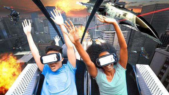 ساخت ترن هوایی مجهز به واقعیت مجازی