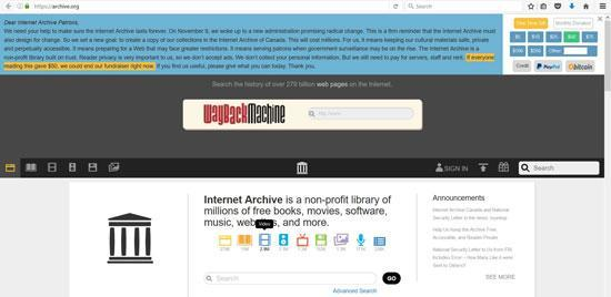 کپی کردن آرشیو تمام اینترنت از ترس ترامپ