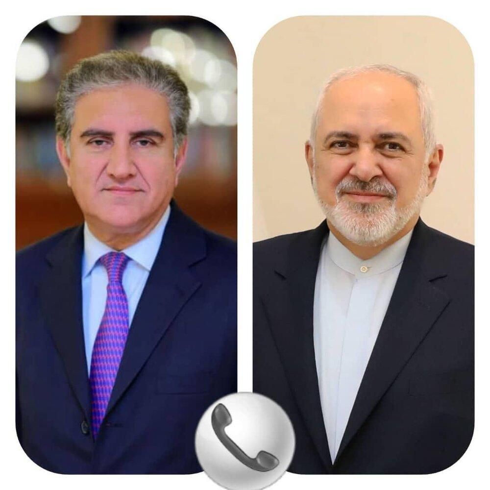 ظریف با شاه محمود قریشی گفتگو کرد
