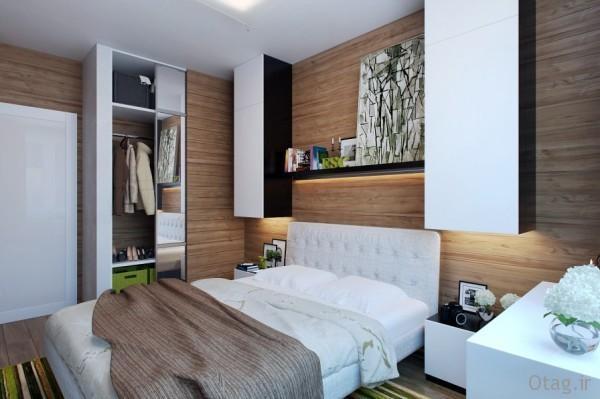 چیدمان اتاق خواب کوچک یک و دونفره با دکوراسیونی شیک و دنج