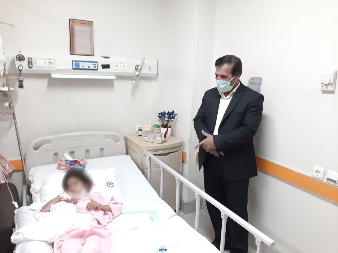 خبرنگاران پویش هزینه درمان دانش آموز بی بضاعت در کرمان نتیجه داد