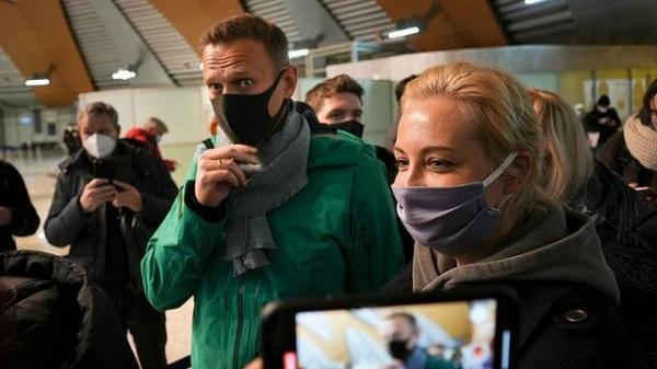 ناوالنی در روسیه بازداشت شد
