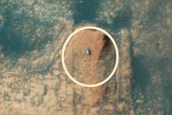 انتشار اولین عکس هوایی از کوهنوردی مریخ نورد کنجکاوی