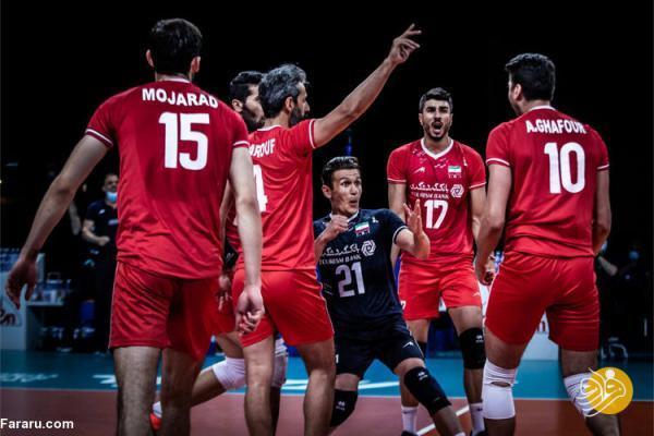 (عکس) رتبه والیبال ایران در جدول قبل از بازی با لهستان