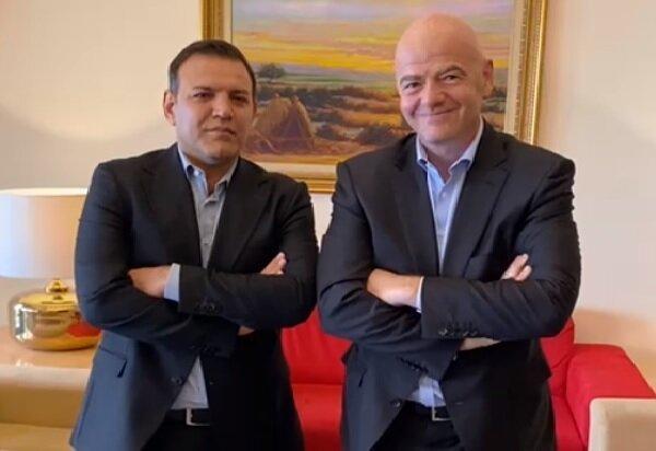 رئیس فیفا: سال آینده به ایران سفر می کنم